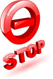 Free Stop Symbol Stock Image - 9441931