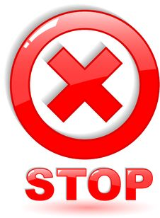 Free Stop Symbol Royalty Free Stock Image - 9441966