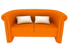Free Sofa On White. Stock Photo - 9441970