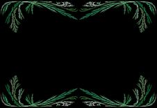 Free Leafy Green Fractal Frame With Black Copy Space Royalty Free Stock Photography - 9442067