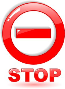 Free Stop Symbol Stock Photography - 9442462
