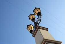 Street Lantern In A Retro Style Royalty Free Stock Photography