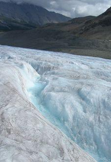 Free Glacier Crevasse Canadian Rockies Royalty Free Stock Photography - 9443007