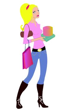 Free Woman During The Shopping Stock Photo - 9443260