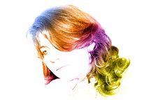 Free Rainbow Portrait Stock Image - 9443421