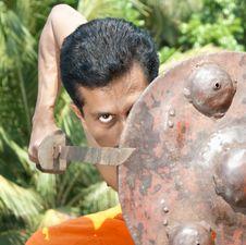 Free Kalarippayat, Indian Ancient Martial Art Of Kerala Stock Images - 9444184