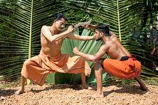 Free Kalarippayat, Indian Ancient Martial Art Of Kerala Royalty Free Stock Photography - 9444187