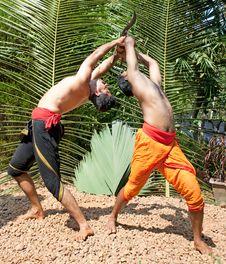Free Kalarippayat, Indian Ancient Martial Art Of Kerala Royalty Free Stock Images - 9444209