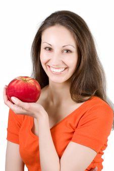 Free Woman Eating Apple Stock Photo - 9444870