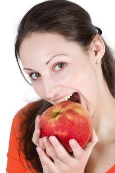 Free Woman Eating Apple Stock Photos - 9444913