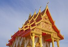Thai Style Church Roof Stock Image