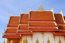 Thai Style Church Roof Royalty Free Stock Photo