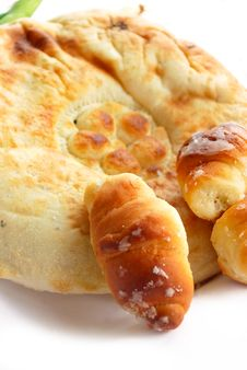 Free Pita And Croissants Royalty Free Stock Photos - 9445928