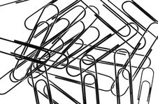 Free Close Up Paperclips Stock Image - 9446021
