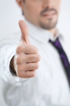 Free The Young Businessman Shows Gesture Stock Photo - 9446160