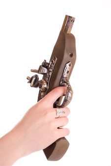 Free Pistol In A Hand Royalty Free Stock Photos - 9446168
