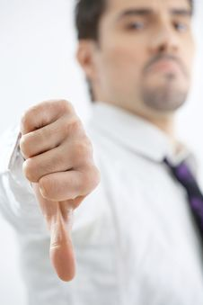 Free The Young Businessman Shows Gesture Stock Photo - 9446170