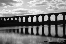 Free Royal Border Rail Bridge BW Stock Image - 9446201