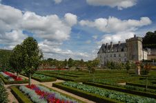 Chateau Villandry, France Royalty Free Stock Photography