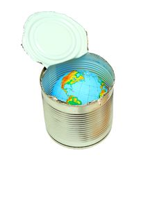 Globe In Canned Royalty Free Stock Images