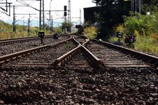 Free Railroad Tracks Stock Photography - 9446892