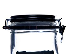 Transparent Glass Jar. Royalty Free Stock Images