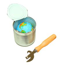 Globe In Canned Royalty Free Stock Photography