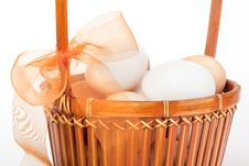 Free Eggs In A Basket Royalty Free Stock Images - 9447769