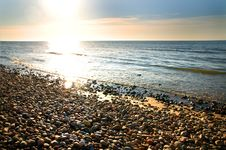 Free Sea At Sunset Royalty Free Stock Images - 9448149