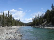 Free Athabasca River Royalty Free Stock Photography - 9448437