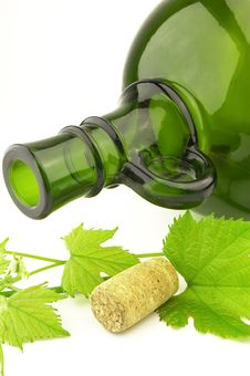 Free Green Bottle With Cork Stock Photos - 9448813