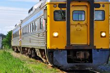 Free Train At A Crossing Royalty Free Stock Image - 9448936