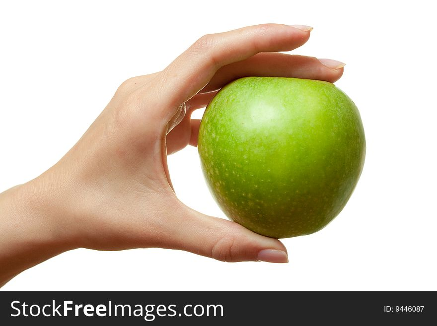 Hand with an apple