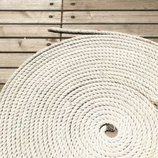 Free Coil Of Nylon Rope Royalty Free Stock Images - 94484329