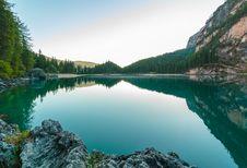 Free Alpine Lake In Dolomites, Italy Royalty Free Stock Images - 94484379