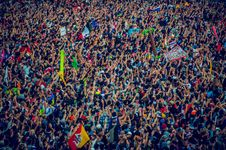 Free Aerial View Of Crowds At Festival Stock Photo - 94484380