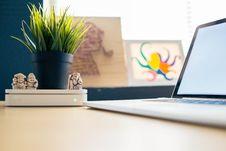 Free Laptop And Decorative Plant Stock Photo - 94484400