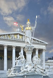 Free Athena Parliament Vienna Royalty Free Stock Image - 94484436