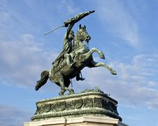 Free Statue Archiduc Charles Heldenplatz Royalty Free Stock Photos - 94484568