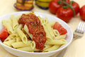 Free Fresh Penne With Tomato Sauce Royalty Free Stock Photos - 9453618
