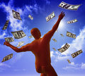 Free Catching Money On The Sky Stock Photos - 9455163