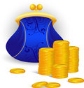 Free Purse And Coins Royalty Free Stock Image - 9456096