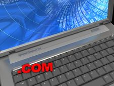 Free Laptop Keyboard And  .com  Text Royalty Free Stock Photography - 9450257