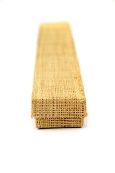 Free Wicker Box Of Straw For Present Royalty Free Stock Images - 9450839