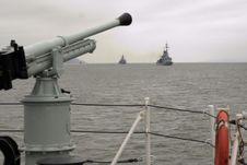 Free Gun From Military Ship Stock Photos - 9451923