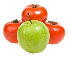 Apple And Tomato Stock Images