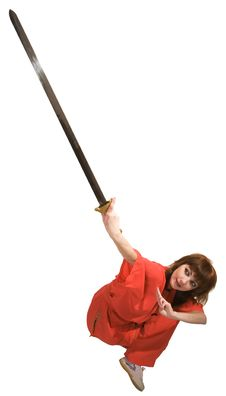 Free Woman Makes Exercise With Sword Royalty Free Stock Photo - 9452115