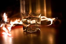 Free Glass Between The Flames Royalty Free Stock Photo - 9452135