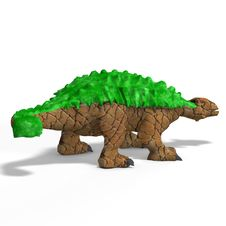 Free Strange Dinosaur Ankylosaurus With Clipping Path Stock Photo - 9452250