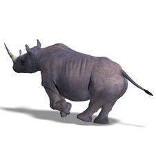 Free Rhinoceros Rendering Royalty Free Stock Image - 9452286